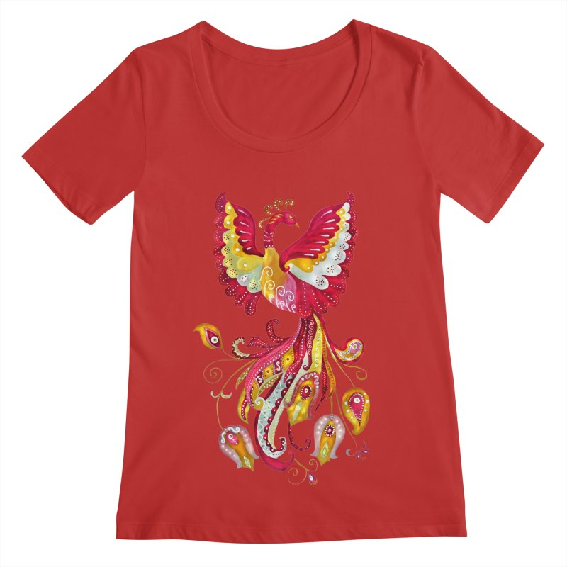 Firebird - Mythical Creature Women's Regular Scoop Neck by tanjica's Artist Shop