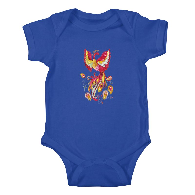 Firebird - Mythical Creature Kids Baby Bodysuit by tanjica's Artist Shop