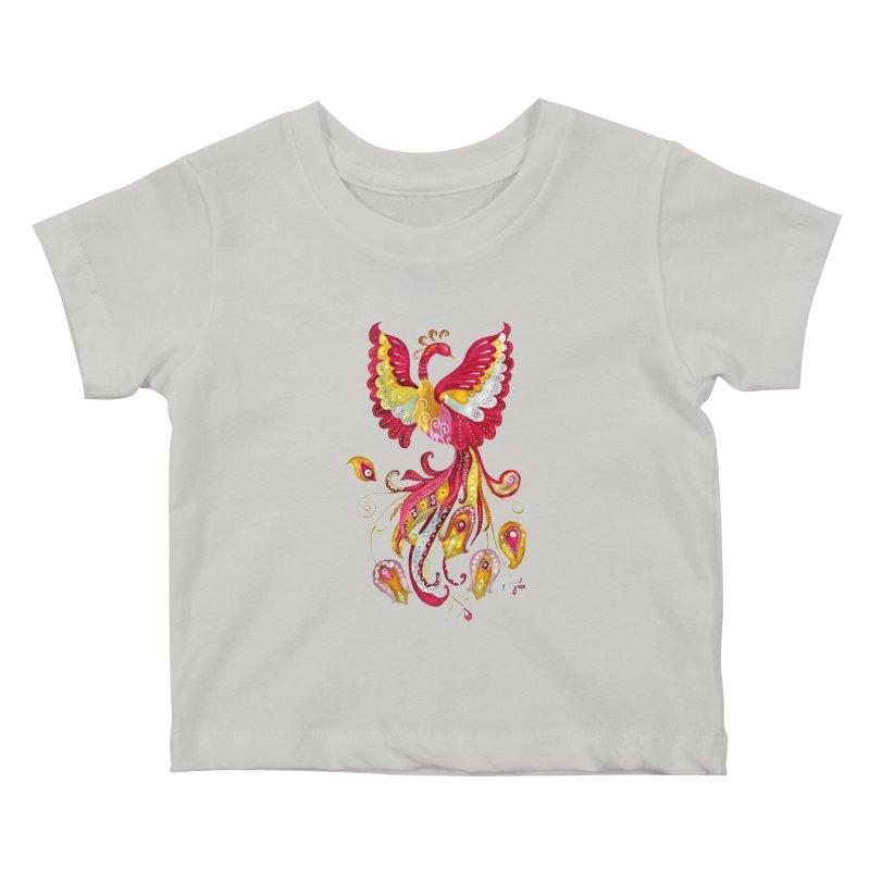 Firebird - Mythical Creature Kids Baby T-Shirt by tanjica's Artist Shop