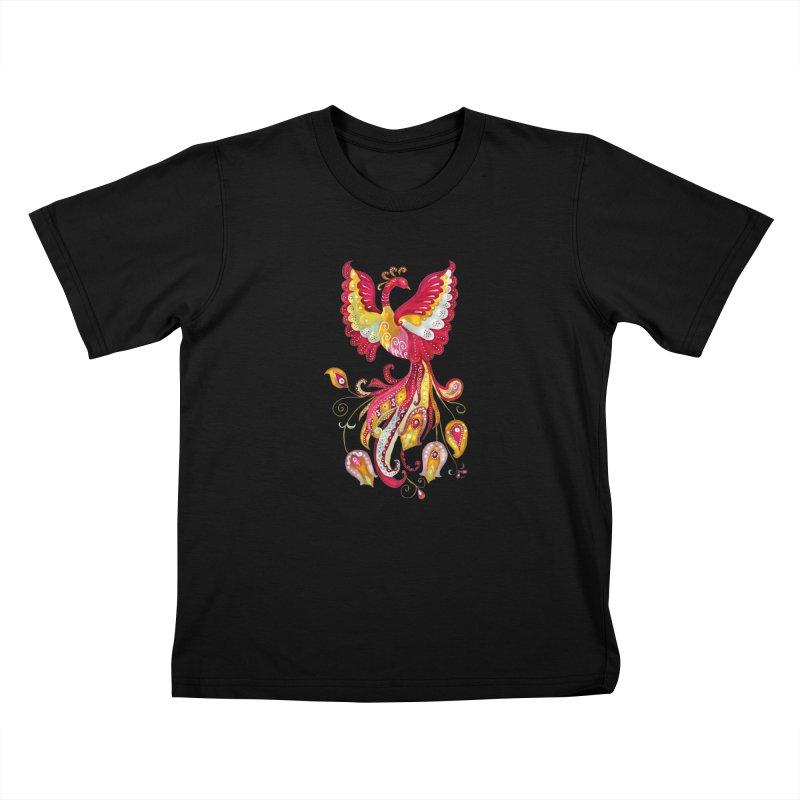 Firebird - Mythical Creature Kids T-Shirt by tanjica's Artist Shop