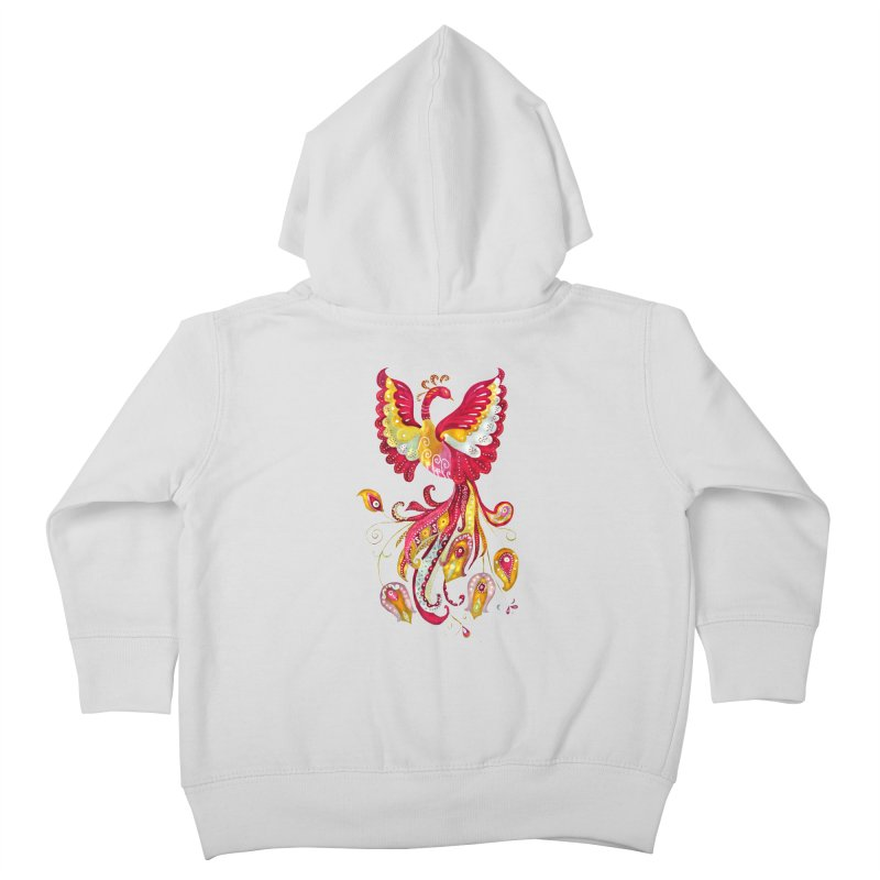 Firebird - Mythical Creature Kids Toddler Zip-Up Hoody by tanjica's Artist Shop