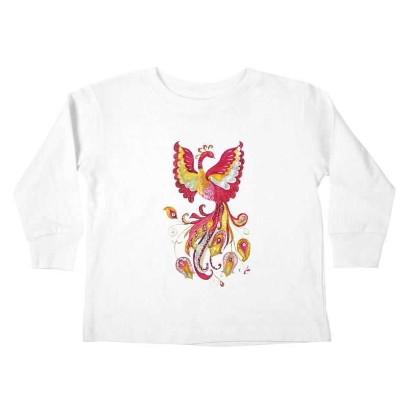 Firebird - Mythical Creature Kids Toddler Longsleeve T-Shirt by tanjica's Artist Shop