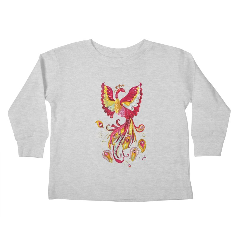Firebird - Mythical Creature Kids Toddler Longsleeve T-Shirt by tanjica's Artist Shop