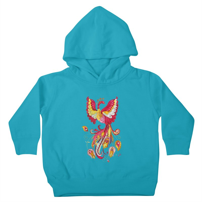 Firebird - Mythical Creature Kids Toddler Pullover Hoody by tanjica's Artist Shop