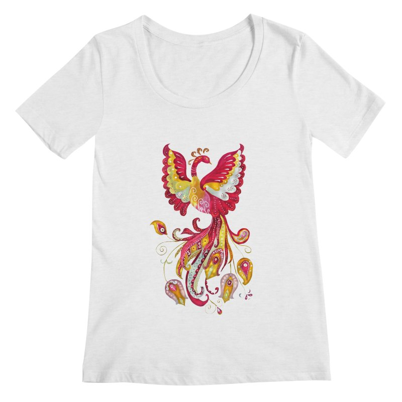 Firebird - Mythical Creature Women's Regular Scoop Neck by tanjica's Artist Shop