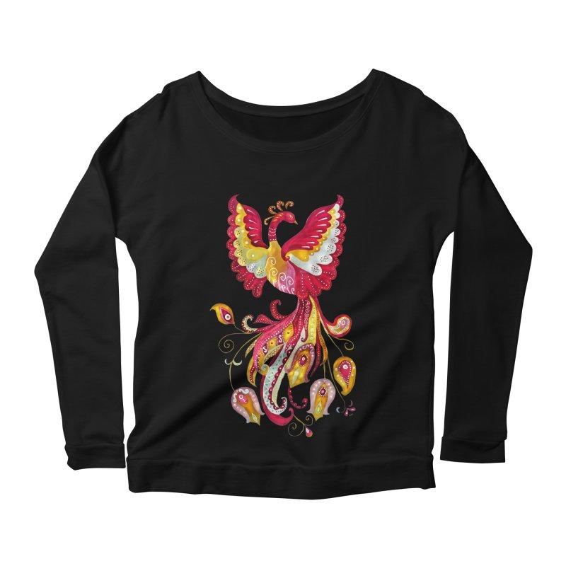 Firebird - Mythical Creature Women's Scoop Neck Longsleeve T-Shirt by tanjica's Artist Shop