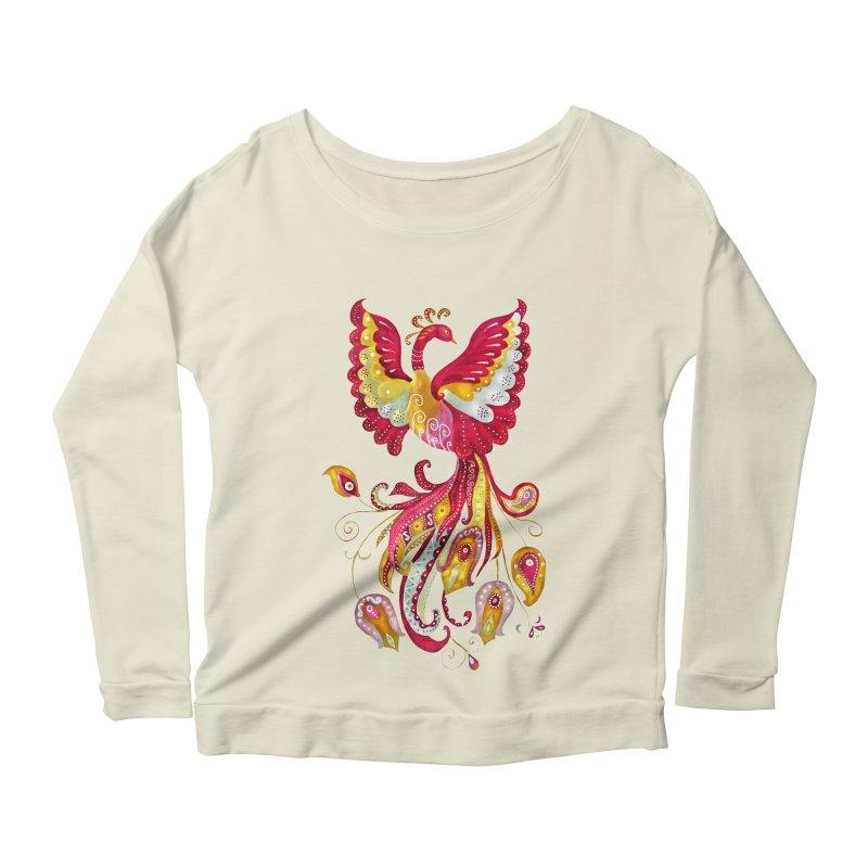 Firebird - Mythical Creature Women's Longsleeve Scoopneck  by tanjica's Artist Shop