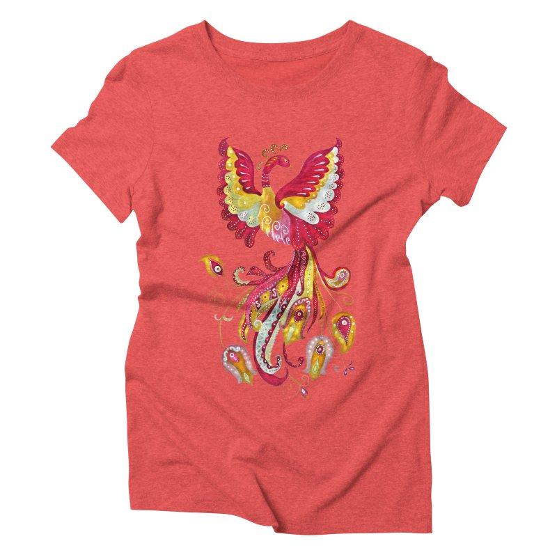 Firebird - Mythical Creature Women's Triblend T-shirt by tanjica's Artist Shop