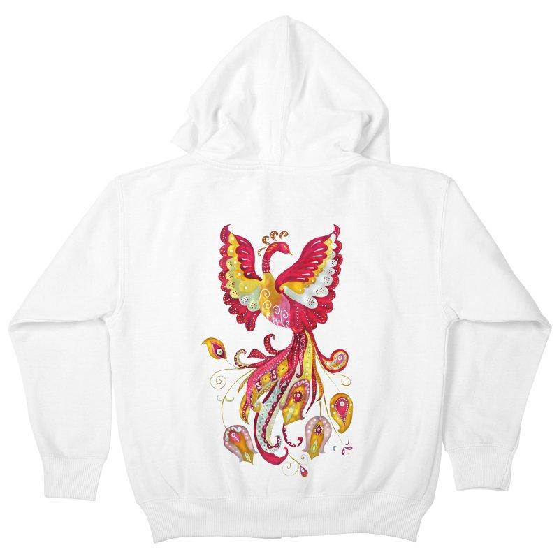 Firebird - Mythical Creature Kids Zip-Up Hoody by tanjica's Artist Shop