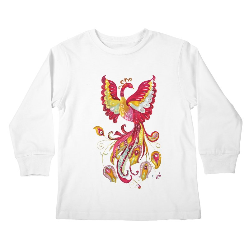 Firebird - Mythical Creature Kids Longsleeve T-Shirt by tanjica's Artist Shop