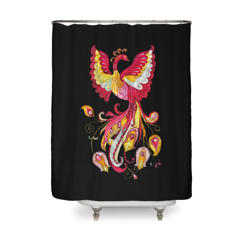 Firebird - Mythical Creature Home Shower Curtain by tanjica's Artist Shop