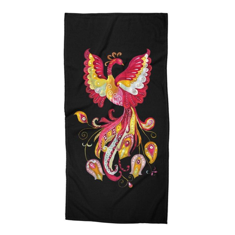 Firebird - Mythical Creature Accessories Beach Towel by tanjica's Artist Shop