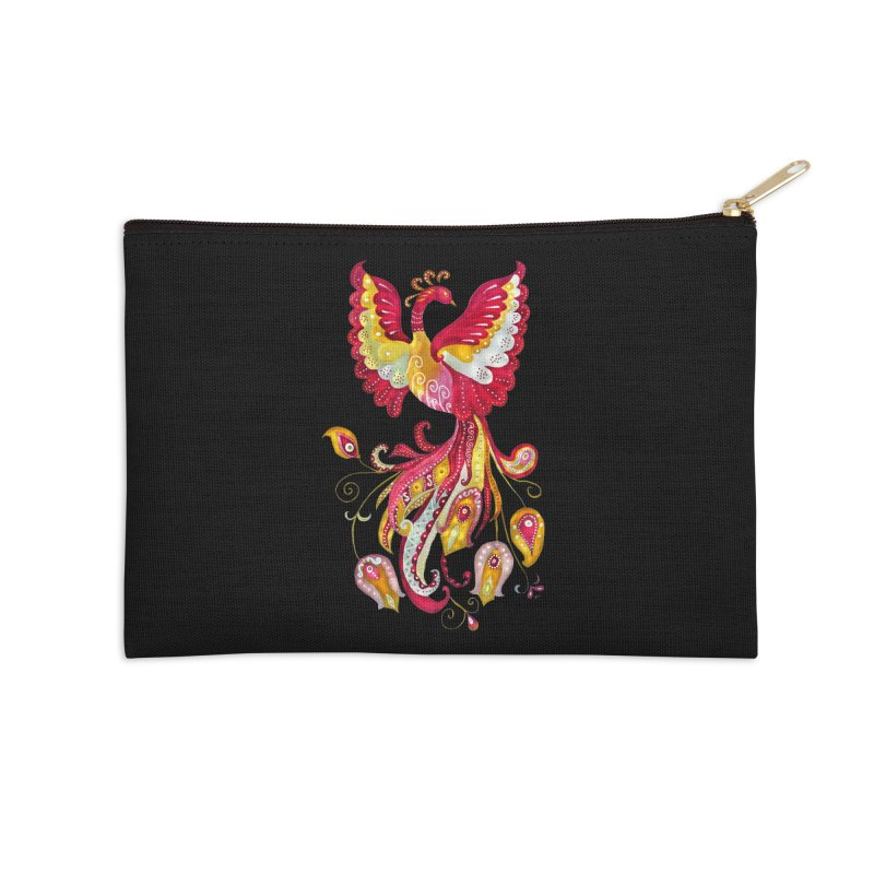 Firebird - Mythical Creature Accessories Zip Pouch by tanjica's Artist Shop