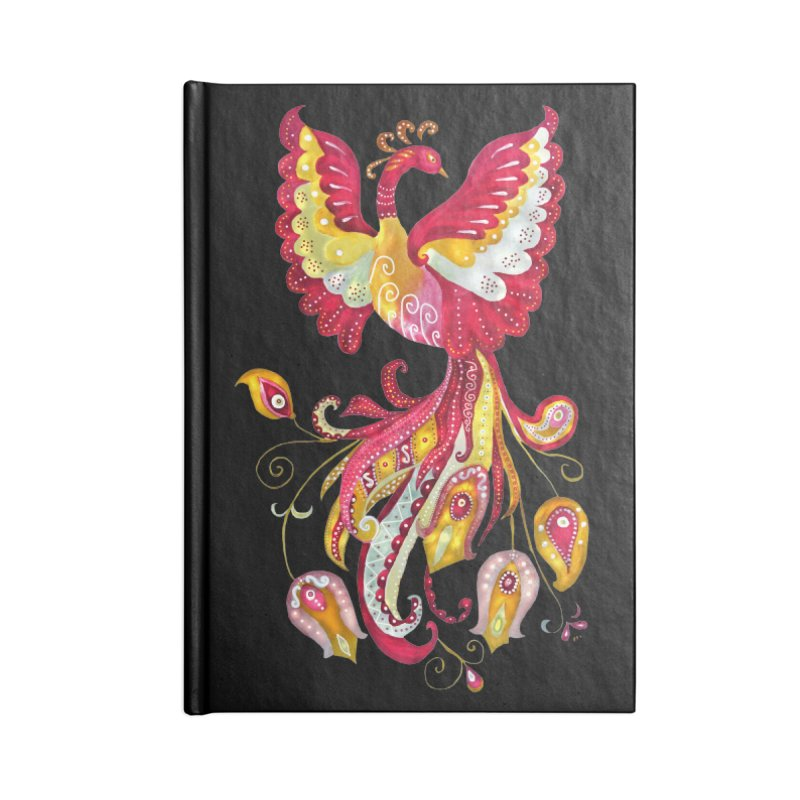 Firebird - Mythical Creature Accessories Lined Journal Notebook by tanjica's Artist Shop