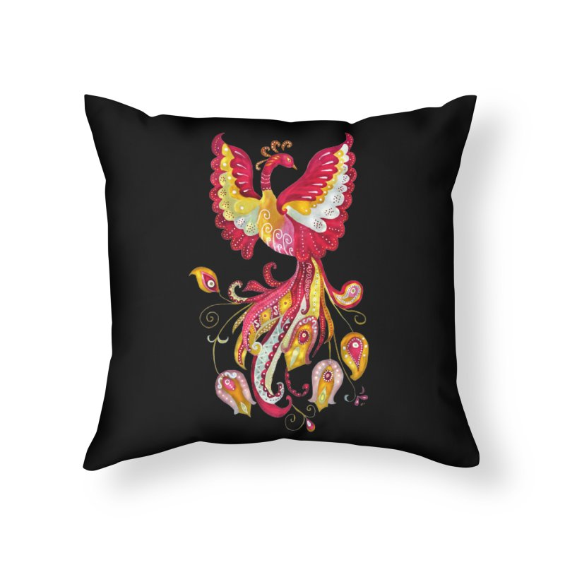 Firebird - Mythical Creature Home Throw Pillow by tanjica's Artist Shop