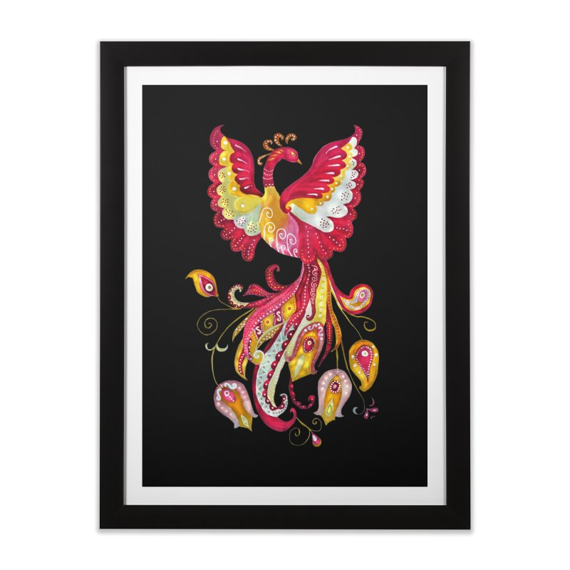 Firebird - Mythical Creature Home Framed Fine Art Print by tanjica's Artist Shop