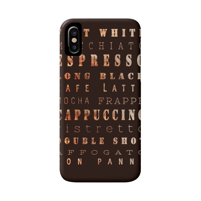 Coffee Types Accessories Phone Case by tanjica's Artist Shop