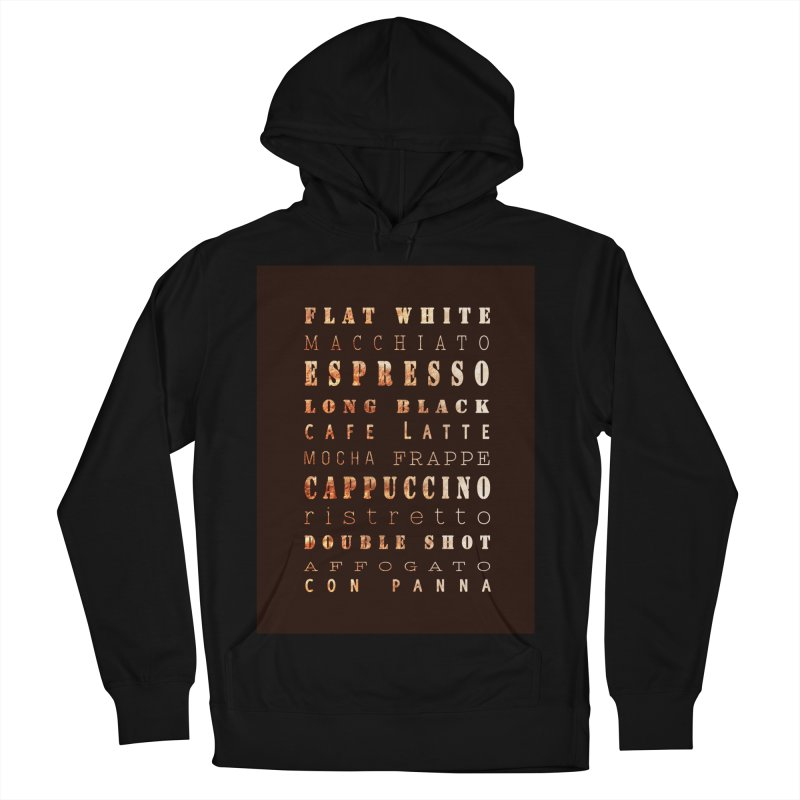 Coffee Types Men's Pullover Hoody by tanjica's Artist Shop