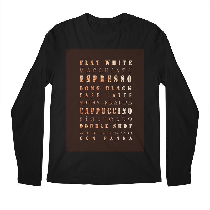 Coffee Types Men's Regular Longsleeve T-Shirt by tanjica's Artist Shop