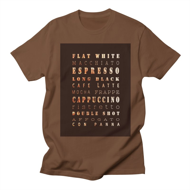 Coffee Types Women's Unisex T-Shirt by tanjica's Artist Shop