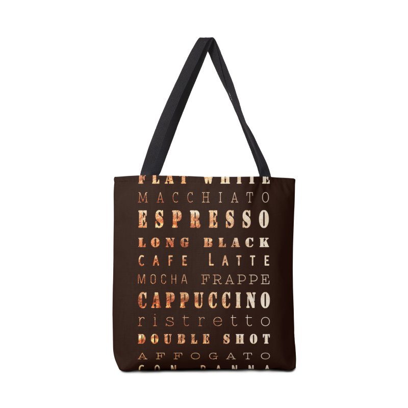 Coffee Types Accessories Tote Bag Bag by tanjica's Artist Shop