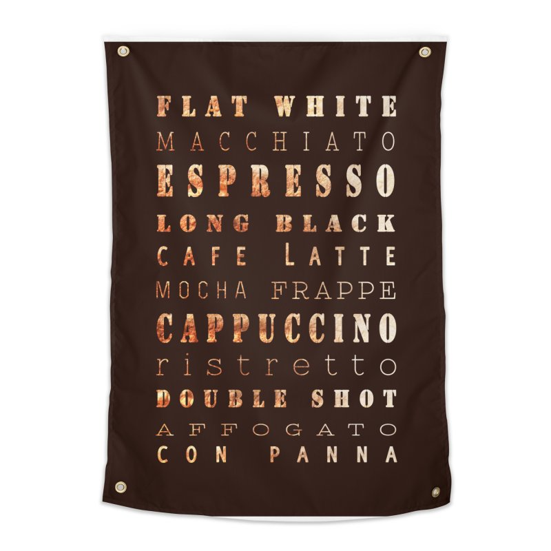 Coffee Types Home Tapestry by tanjica's Artist Shop