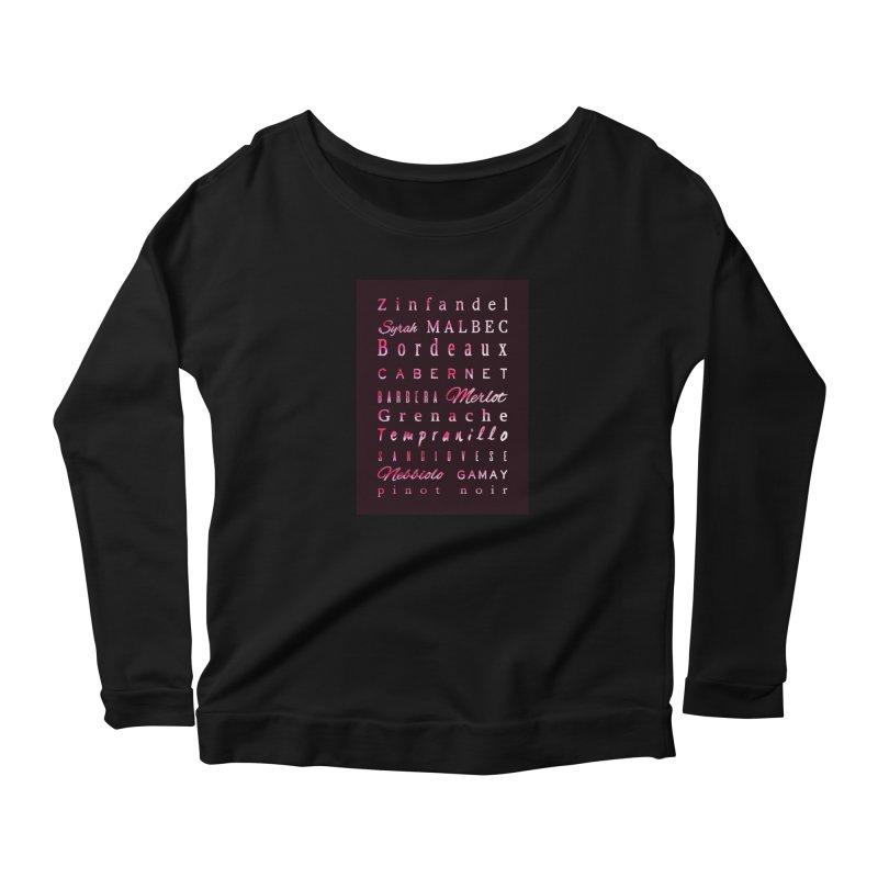Red Wine Types Women's Longsleeve T-Shirt by tanjica's Artist Shop