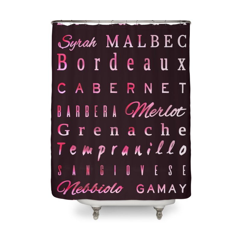 Red Wine Types Home Shower Curtain by tanjica's Artist Shop
