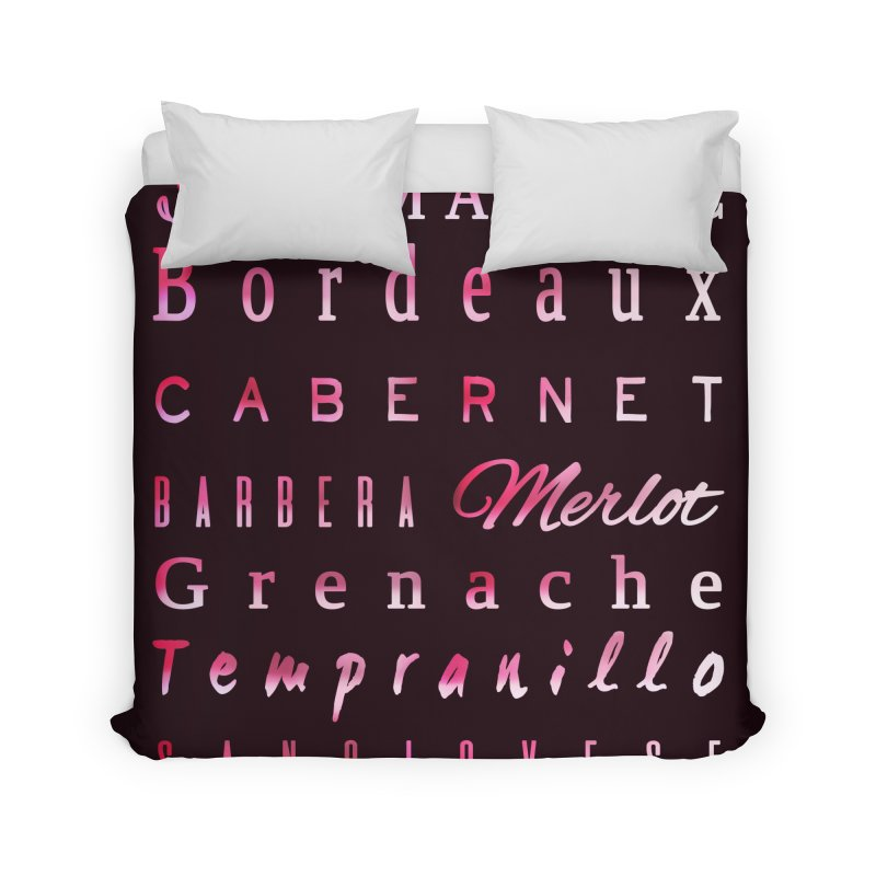 Red Wine Types Home Duvet by tanjica's Artist Shop