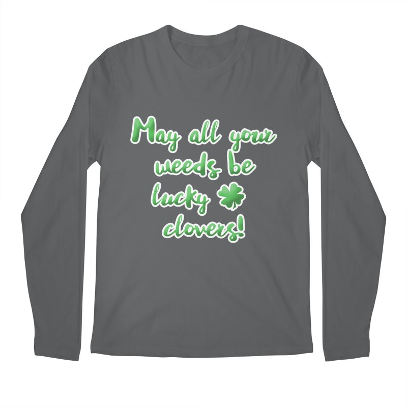 Irish Blessing for Gardeners Men's Longsleeve T-Shirt by tanjica's Artist Shop