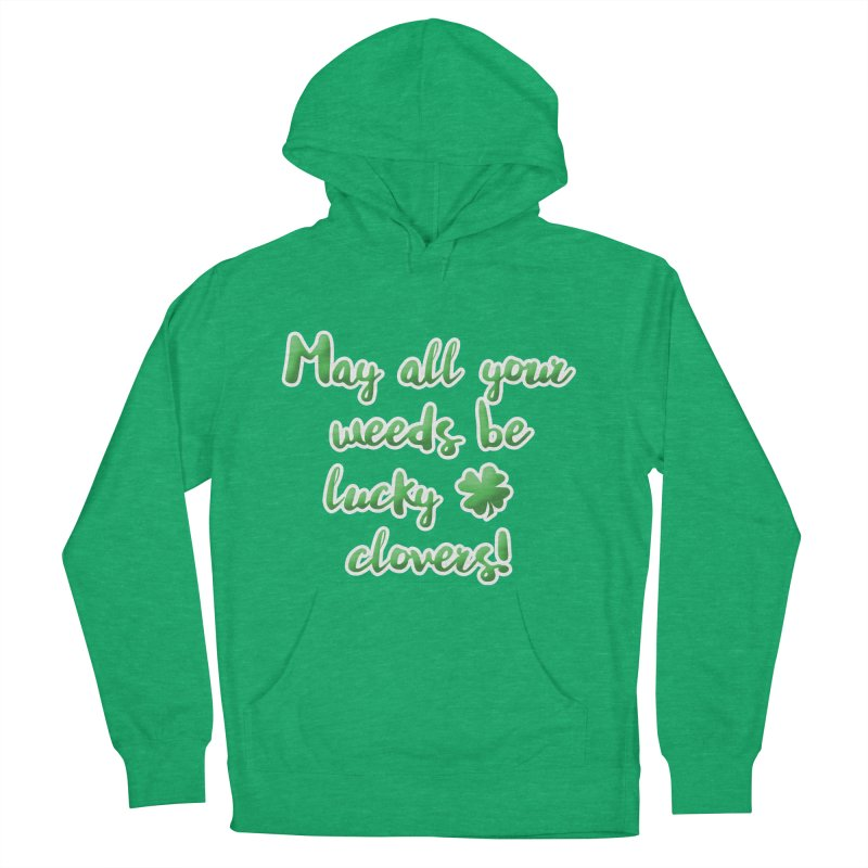 Irish Blessing for Gardeners Men's French Terry Pullover Hoody by tanjica's Artist Shop