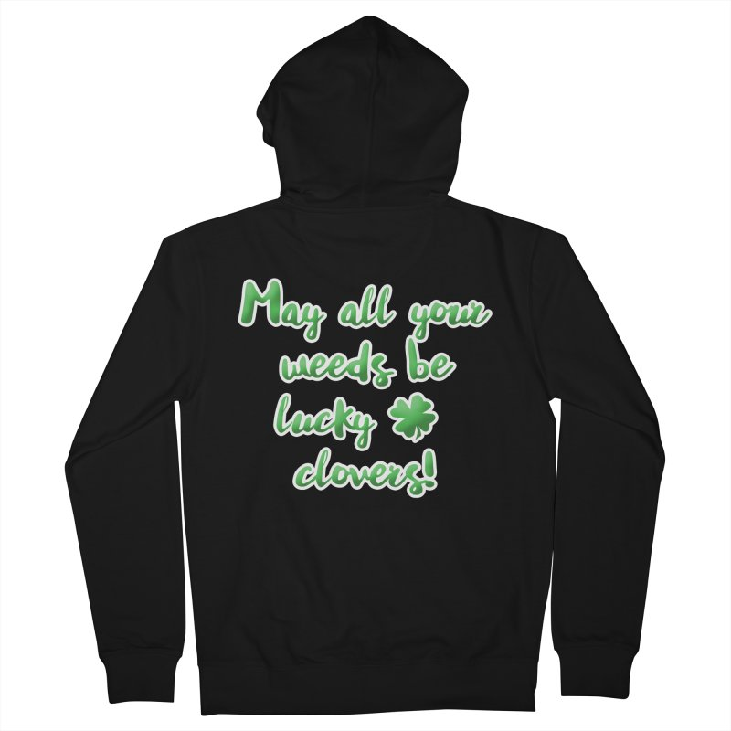 Irish Blessing for Gardeners Men's French Terry Zip-Up Hoody by tanjica's Artist Shop