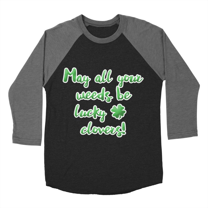 Irish Blessing for Gardeners Men's Baseball Triblend Longsleeve T-Shirt by tanjica's Artist Shop