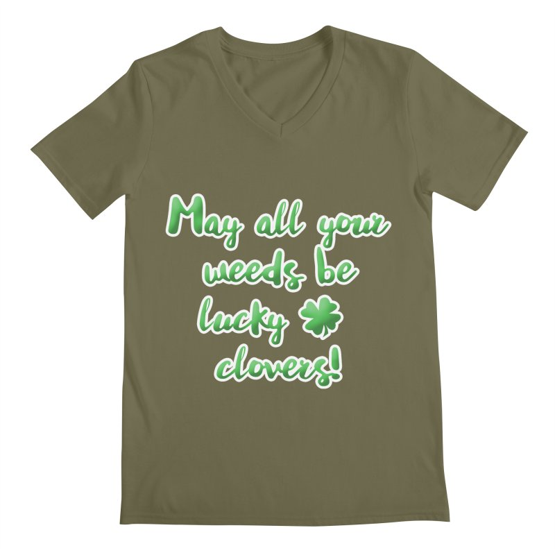 Irish Blessing for Gardeners Men's Regular V-Neck by tanjica's Artist Shop