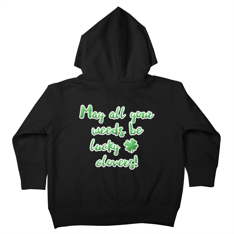 Irish Blessing for Gardeners Kids Toddler Zip-Up Hoody by tanjica's Artist Shop