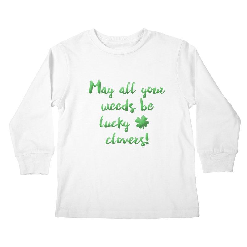 Irish Blessing for Gardeners Kids Longsleeve T-Shirt by tanjica's Artist Shop