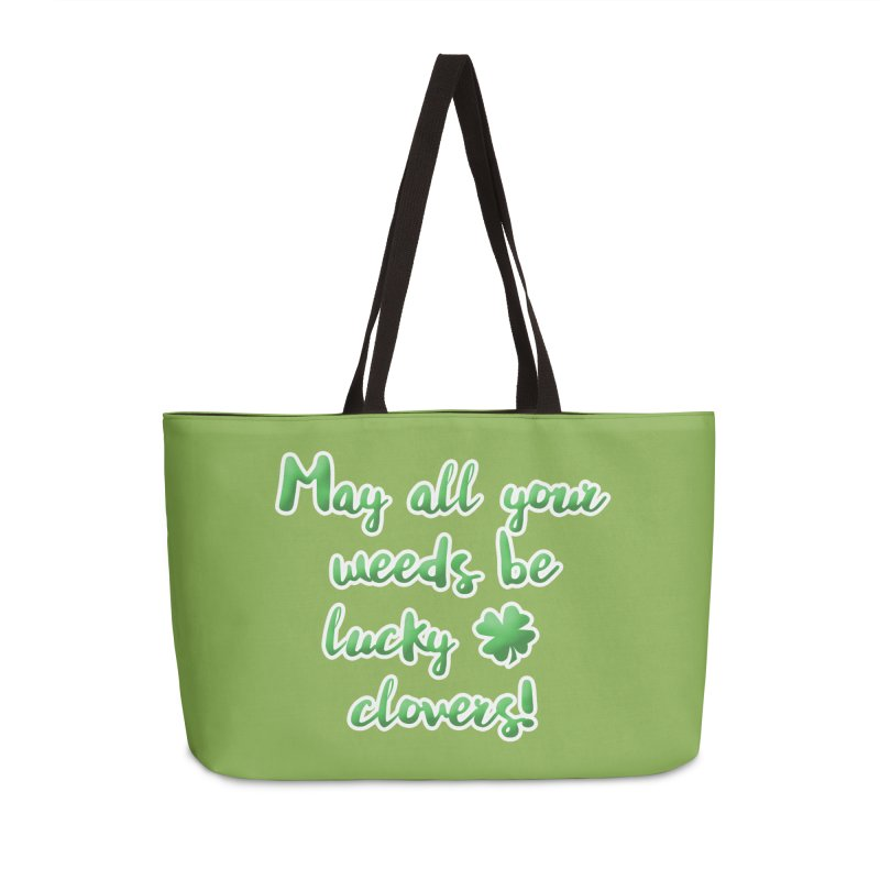 Irish Blessing for Gardeners Accessories Weekender Bag Bag by tanjica's Artist Shop