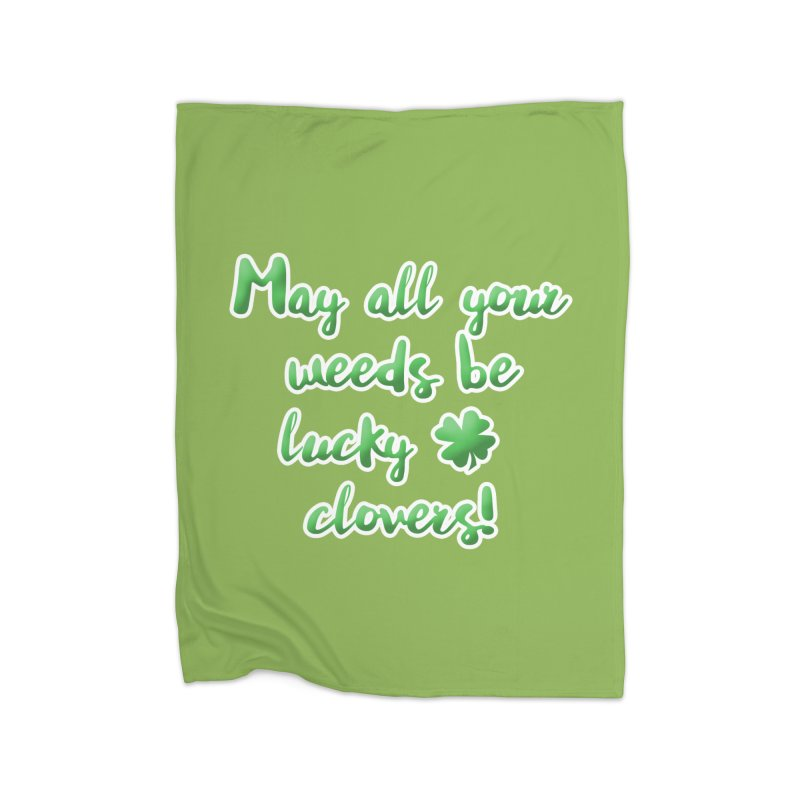Irish Blessing for Gardeners Home Blanket by tanjica's Artist Shop