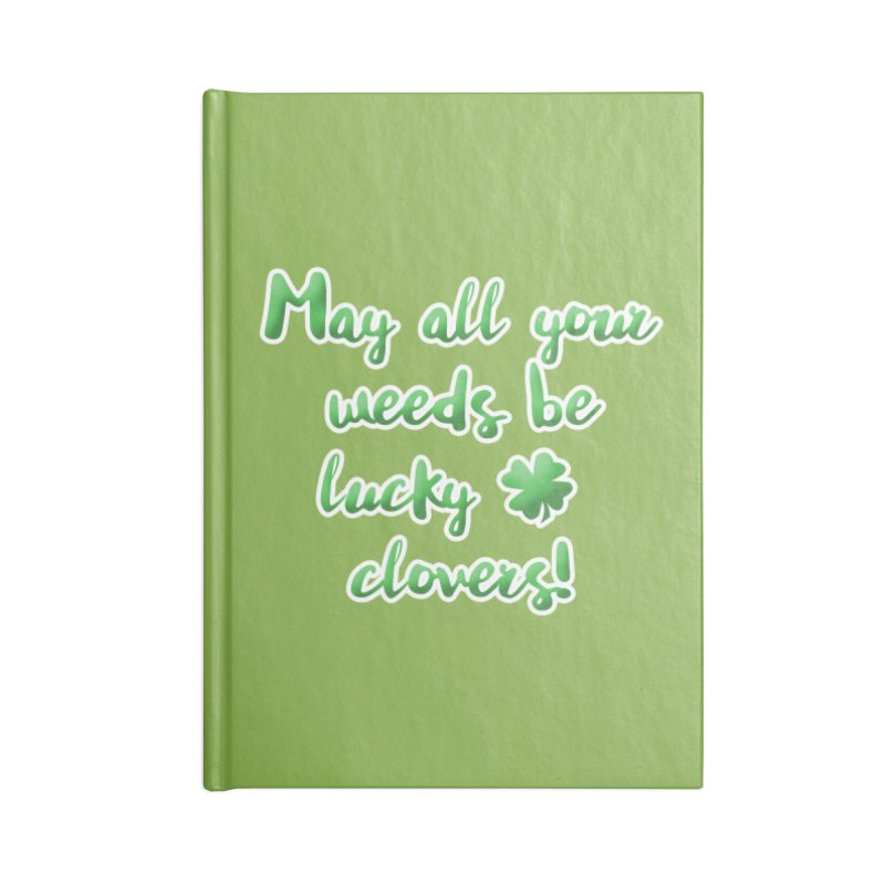 Irish Blessing for Gardeners Accessories Blank Journal Notebook by tanjica's Artist Shop