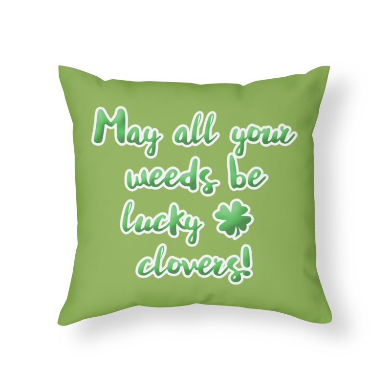 Irish Blessing for Gardeners Home Throw Pillow by tanjica's Artist Shop