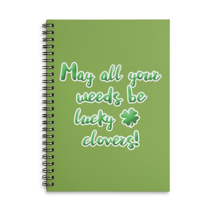 Irish Blessing for Gardeners Accessories Lined Spiral Notebook by tanjica's Artist Shop