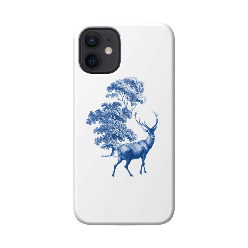 Blue Vintage Deer Stag in Forest Accessories Phone Case by tanjica's Artist Shop