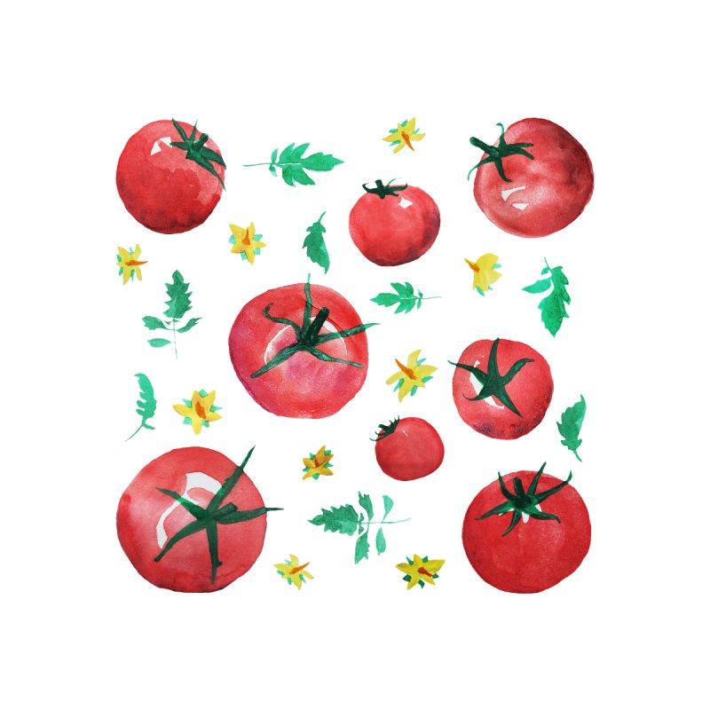 Watercolor Tomatoes Juicy Veggies Men's T-Shirt by tanjica's Artist Shop