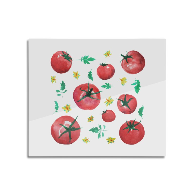 Watercolor Tomatoes Juicy Veggies Home Mounted Acrylic Print by tanjica's Artist Shop