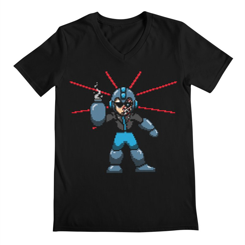 Mega Terminator Men's V-Neck by tannerbisson's Artist Shop
