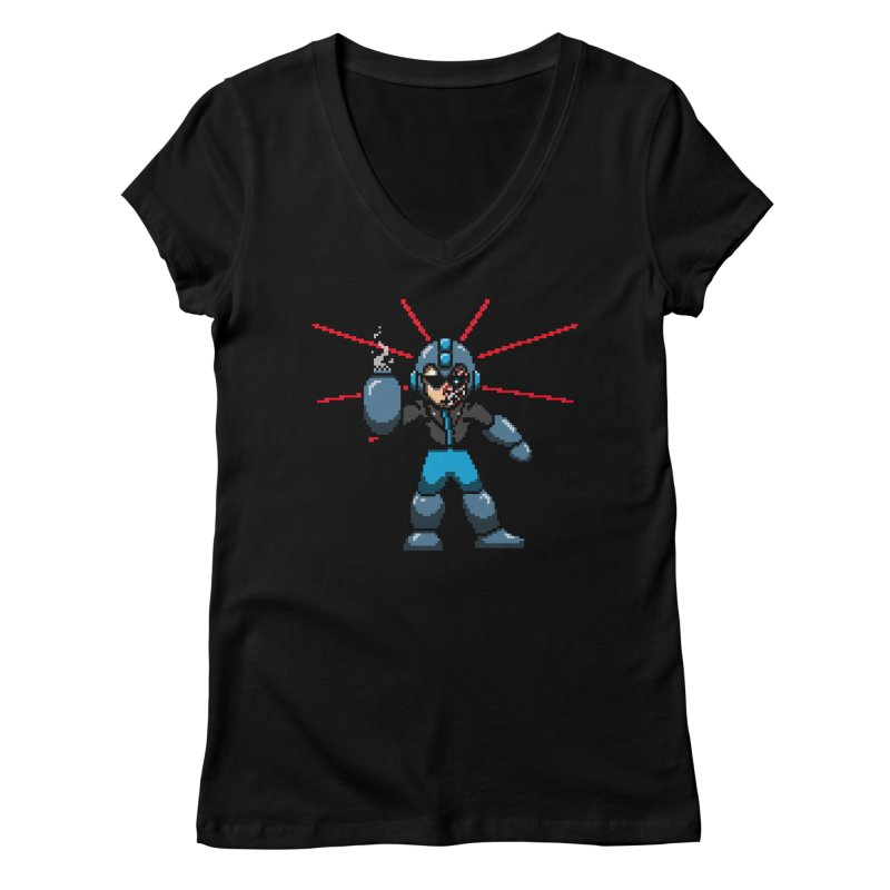 Mega Terminator Women's V-Neck by tannerbisson's Artist Shop