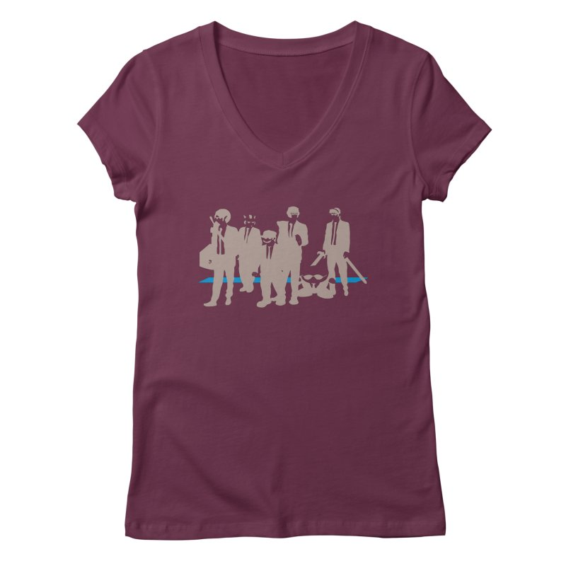 Reservoir Bros. Negative Women's V-Neck by tannerbisson's Artist Shop
