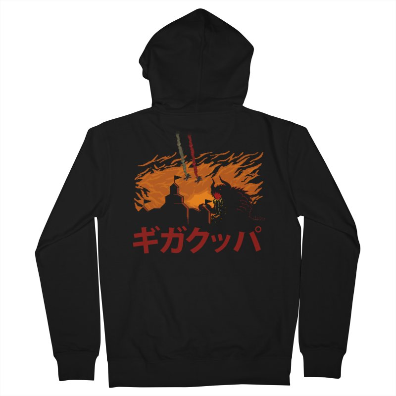 Giga Koopa Men's French Terry Zip-Up Hoody by tannerbisson's Artist Shop
