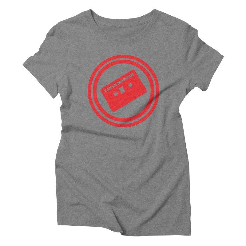 Red Tanya Morgan Logo Shirts Women's Triblend T-Shirt by Tanya Morgan's Merch Shop