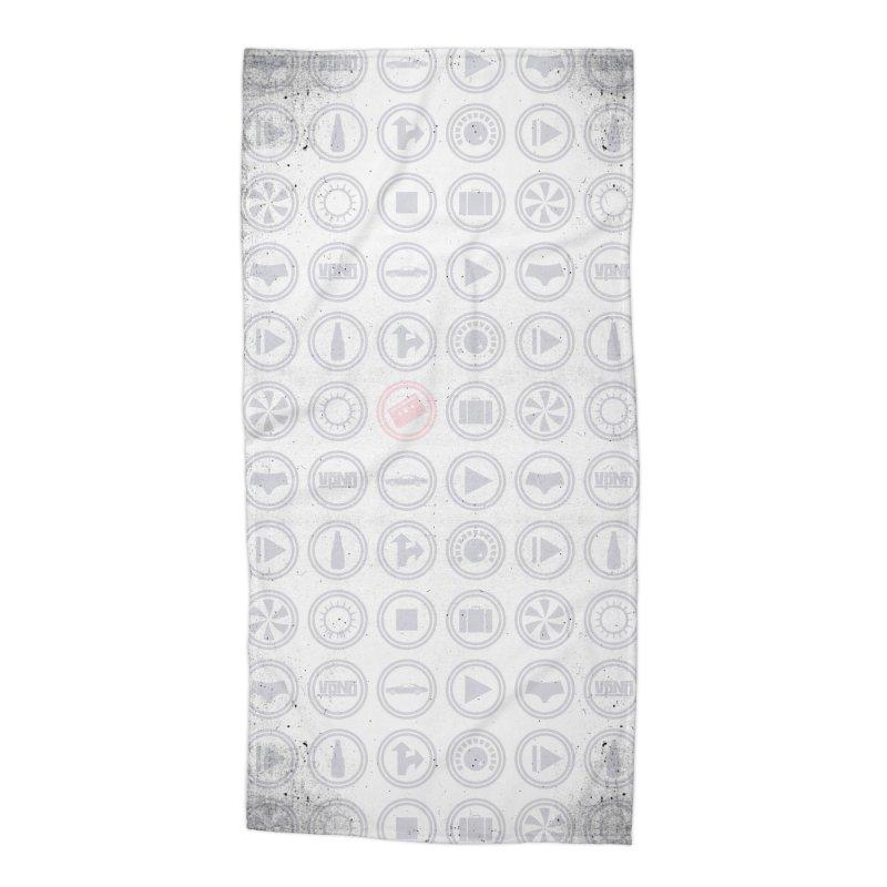 YGWY$4 Icon Pattern Accessories Beach Towel by Tanya Morgan's Merch Shop